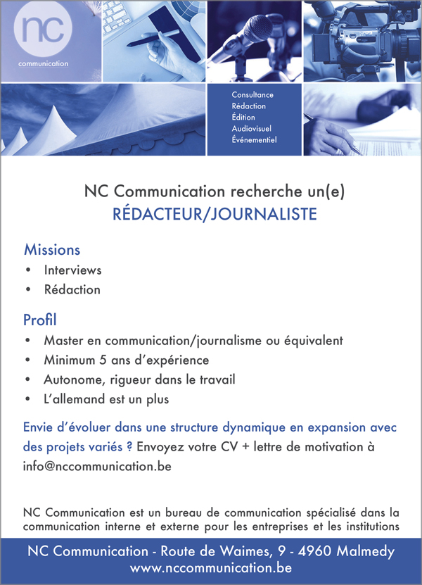 recrutement journaliste NCCommunication